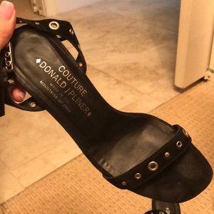 Donald J. Pliner Shoes - Donald Pliner black suede heels